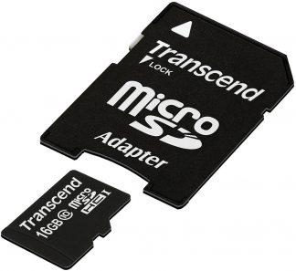 Transcend 16GB Class 10 Micro SDHC Memory Card-0