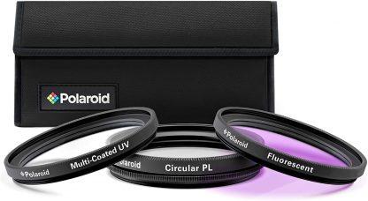 Polaroid Optics 55mm 3-Piece Filter Kit Set [UV,CPL,FLD] includes Nylon Carry Case -0